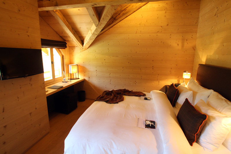 Switzerland, Pays-d'Enhaut, Rougemont, Hotel Valrose room