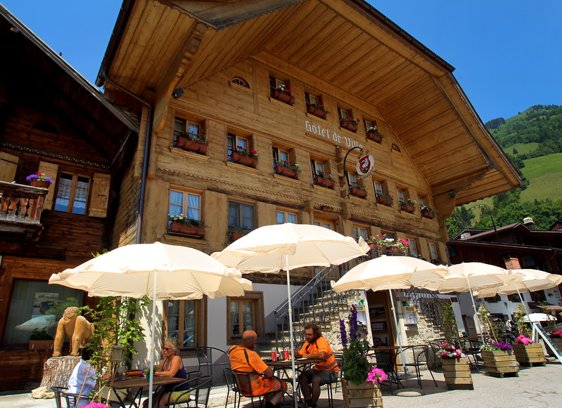 Switzerland, Rougement , Restaurant Rossiniere