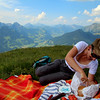 Switzerland, Pays-d'Enhaut, Picnic at the Top of the World