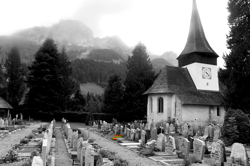 Switzerland, Pays-d'Enhaut, Rougemont Cemetery