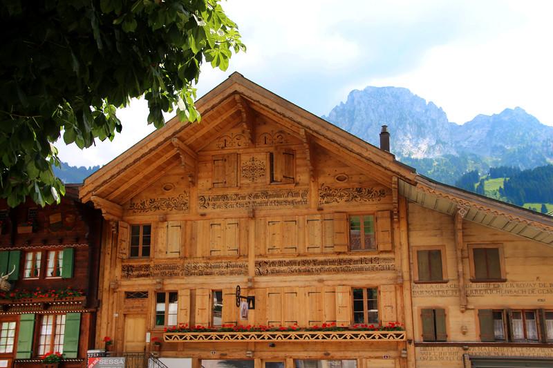 Switzerland, Pays-d'Enhaut, Rougement, Decorative Chalets