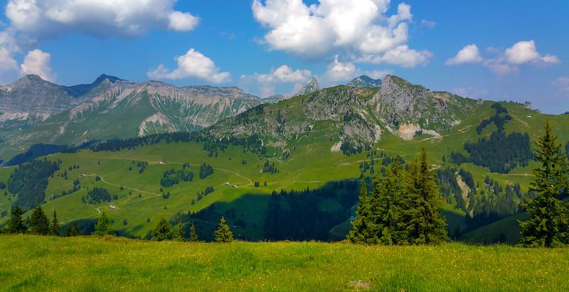 Switzerland, Shadow Over Pays-D'Enhaut Valley