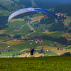 Switzerland, Pays-d'Enhaut, Paraglider Taking Off