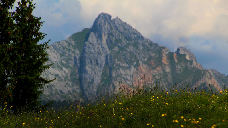 Switzerland, Pays-d'Enhaut, Mountain Vista