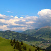 Switzerland, Pays-d'Enhaut, Panorama Over Mountains