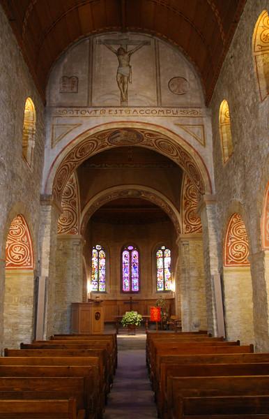 Switzerland, Pays-d'Enhaut, Rougement, Town Church