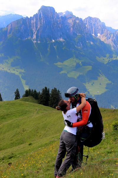Switzerland, Mountain View near Gstaad, Lovers' Embrace