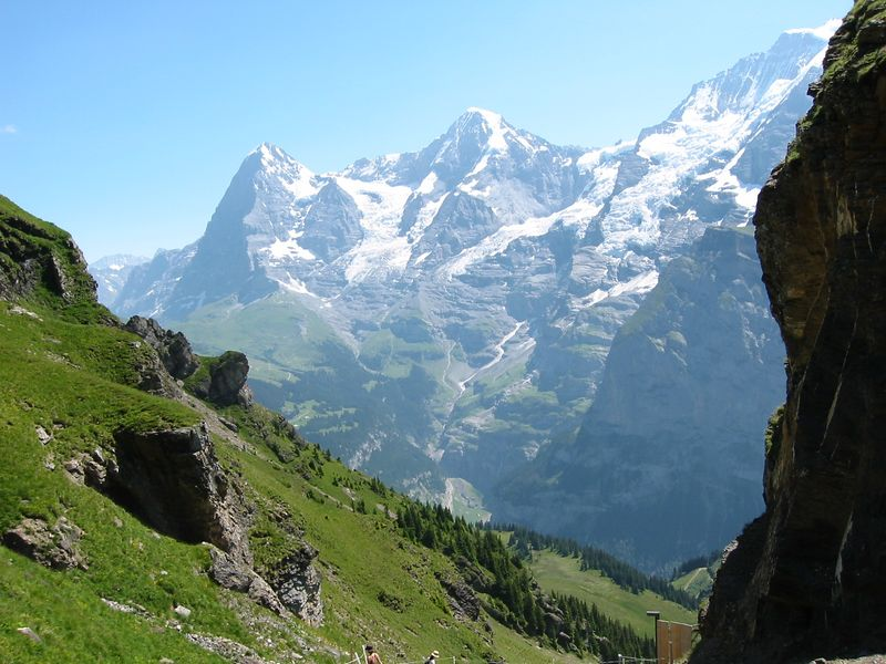 Eiger, Moench, and Jungfrau -- seen from Schilthorn