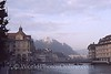 Lucern - View of Castle from Reuss River