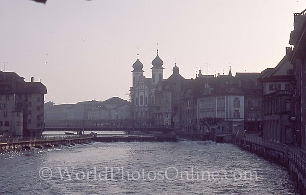 Lucerne - Morning on the Reuss River