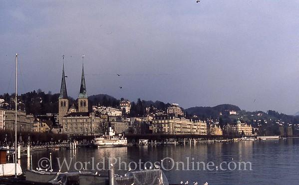 Lucerne - View of Hofkirche