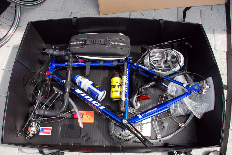 Crateworks bike boxes on arrival
