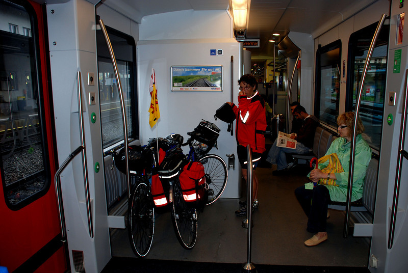 Put the bikes on the train