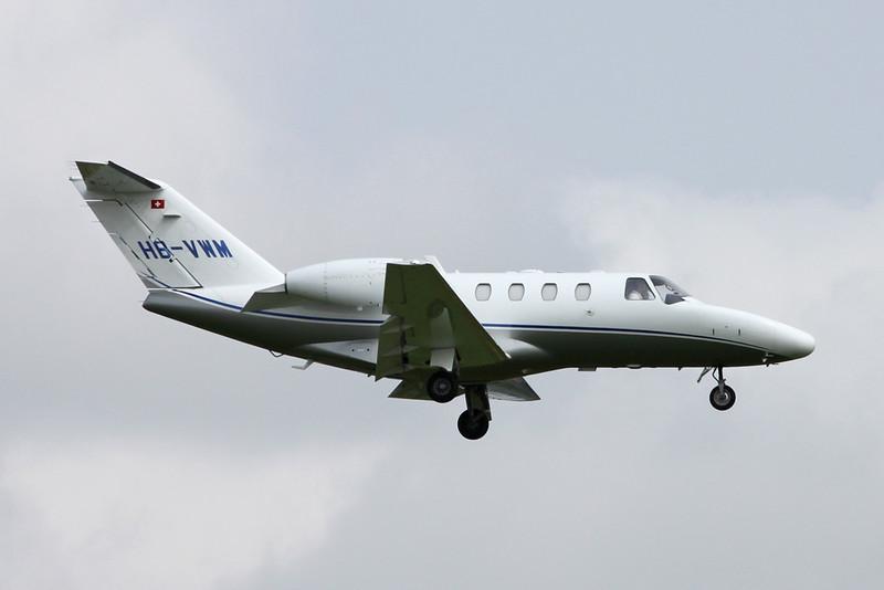 HB-VWM Cessna 525 CitationJet 1+ c/n 525-0690 Zurich/LSZH/ZRH 08-09-17