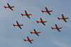"A-929 Pilatus PC-7 ""Swiss Air Force"" c/n 337 Cambrai/LFQI/XCB 02-07-06 ""9 ship formation"""