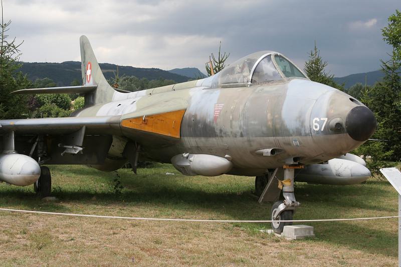 "J-4067 Hawker Hunter F.58 ""Swiss Air Force"" c/n 41H/697434 Montelimar/LFLQ/XMR 20-07-07"