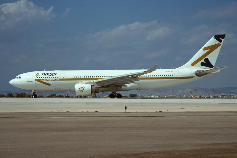 "HB-IQL Airbus A330-223 c/n 305 Athens-Hellenikon/LGAT/ATH 24-09-00 ""Novair"" (35mm slide)"