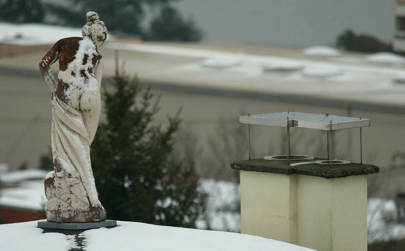 Random statue on Thalwil rooftop