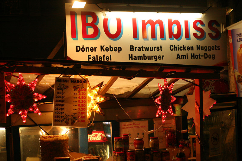 Food stall near the train station in Thalwil
