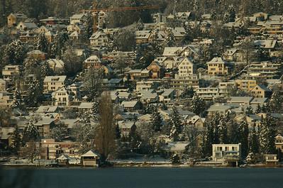 View over Lake Zurich to Kusnacht, from Thalwil - Switzerland