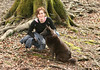 Terri and Coco, in forest around Thalwil, 2005