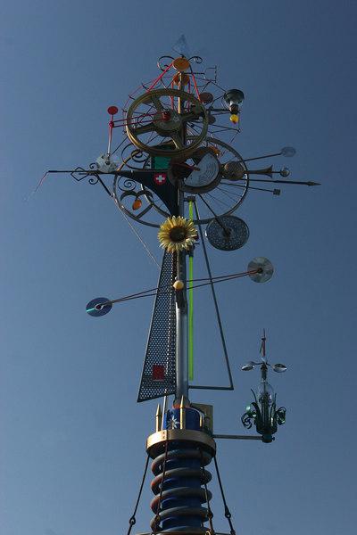 Clock in Vevey, Switzerland