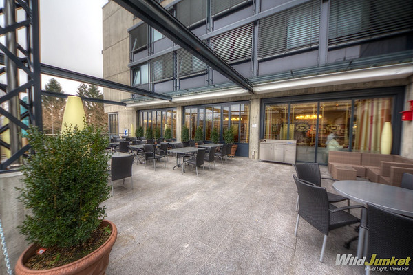 The restaurant's terrace at Geroldswil Hotel