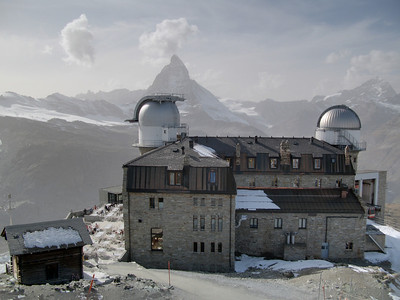 Observatory at the top of the Gornergrat. Enfuse used with multi exposures.
