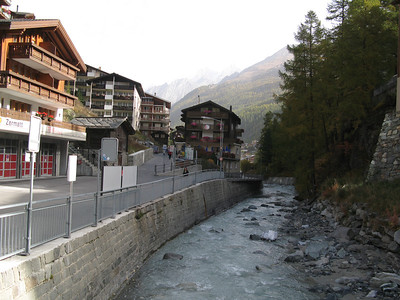 River running through Zermatt, taken on the way to the cable cars.