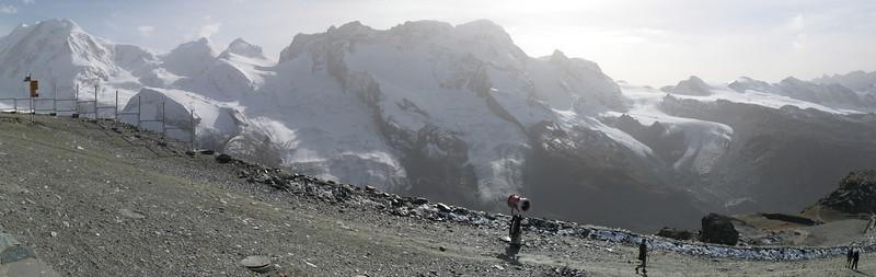 Panorama looking towards the Gorner Glacier valley