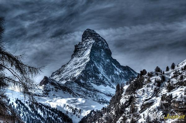 View of the Matterhorn, Zermatt Youth Hostel