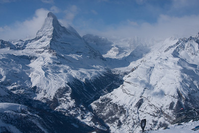 View of the Matterhorn from Rothorn Paradise, 3103 meters