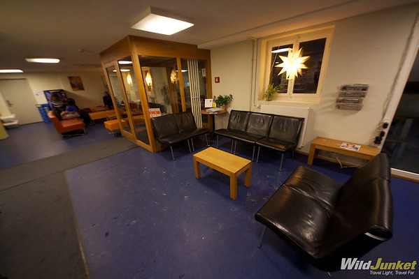 The Lobby at Zermatt Youth Hostel