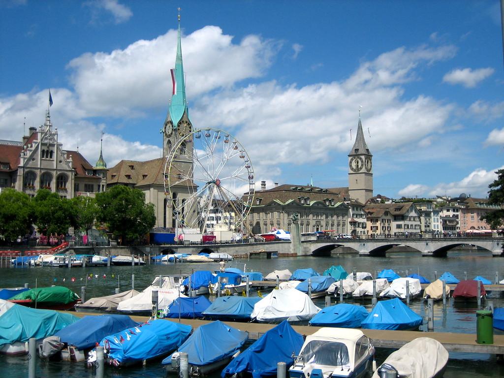 The River Limmat - Zurich, Switzerland - Photo