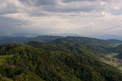 The mountains as seen from Uetliberg in Zurich, Switzerland