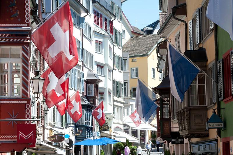 Augustinergasse in Lindenhof quarter in Zurich, Switzerland