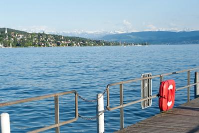 View of Lake Zurich in Switzerland