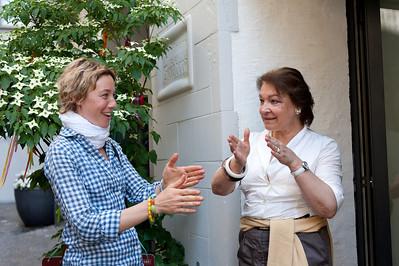 Talking to the proprietor of Truffe in Zurich, Switzerland