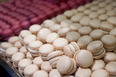 Stack of French macaroons in Zurich, Switzerland