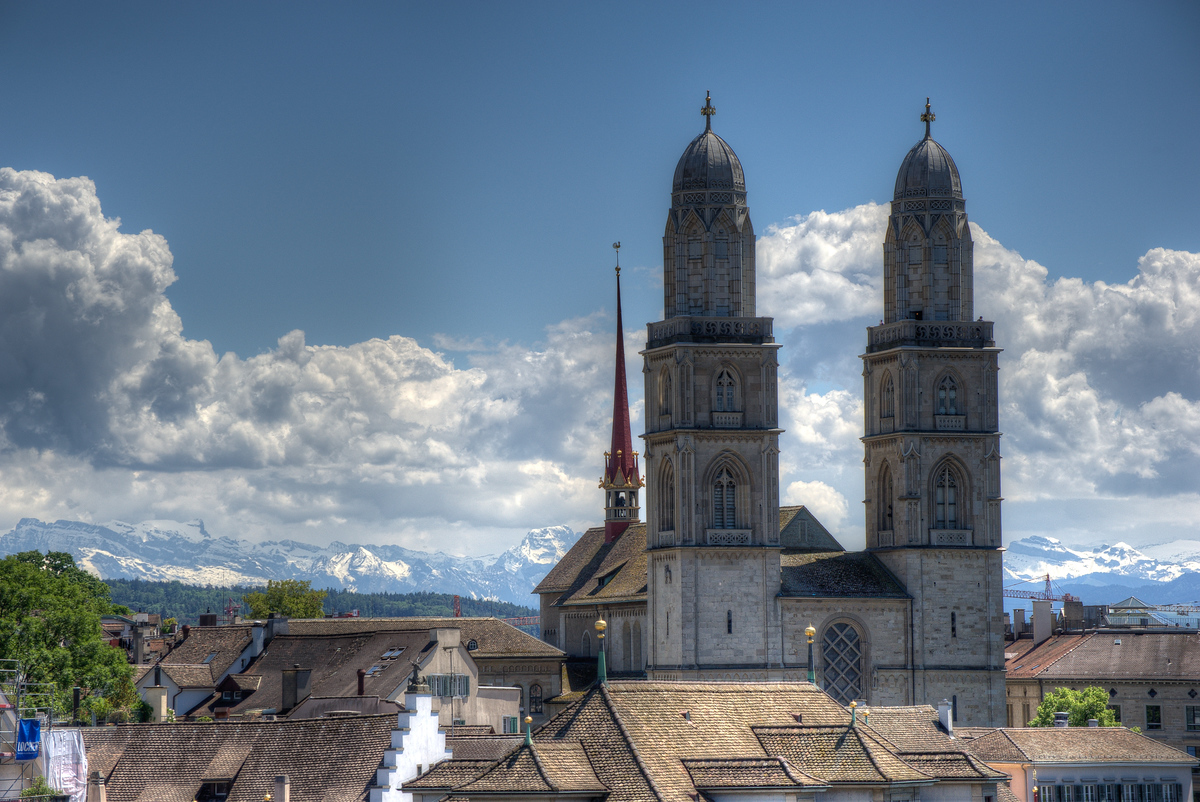 Grossmuenster Church in Zurich, Switzerland