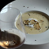Switzerland, Zurich, Restaurant Zunfthaus zur Waag, Mushroom Soup