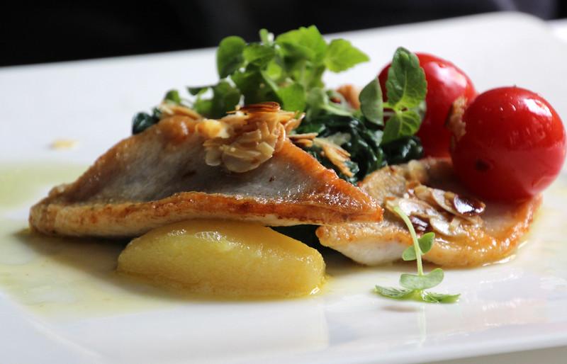 Switzerland, Zurich, Restaurant Zunfthaus zur Waag, Local Fish