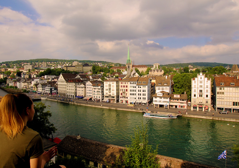 Switzerland, Zurich, View from the Lindenhof