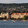 Switzerland, View on Zurich from Passenger Ship