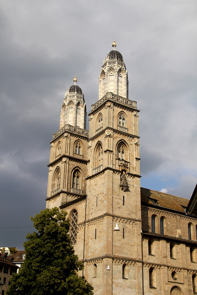 Switzerland, Zurich, Grossmuenster Cathedral