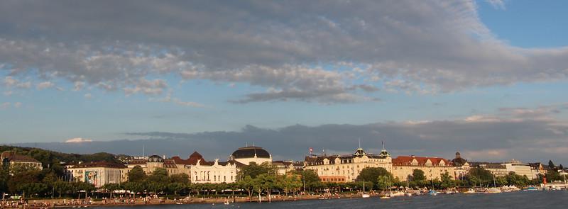 Switzerland, Zurich, Panorama from Cruise Pier