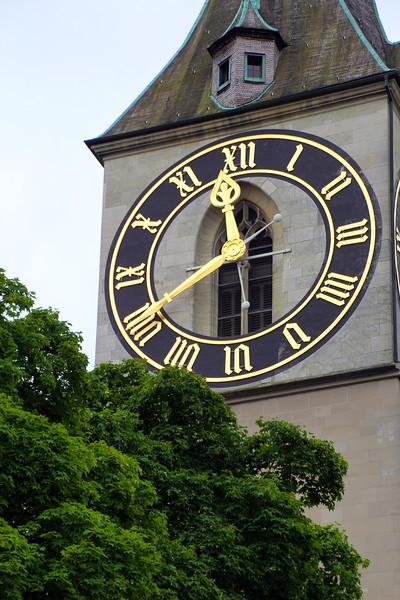 Switzerland, Zurich, St. Peter's Clock