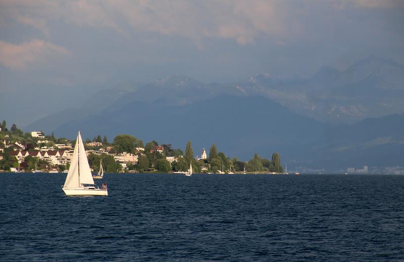 Switzerland, Lake Zurich from Passenger Ship 3