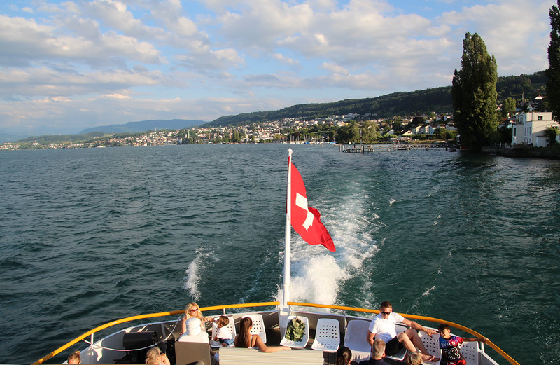 Switzerland, Lake Zurich from Passenger Ship