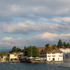 Switzerland, Town of Horgen on Lake Zurich from Passenger Ship